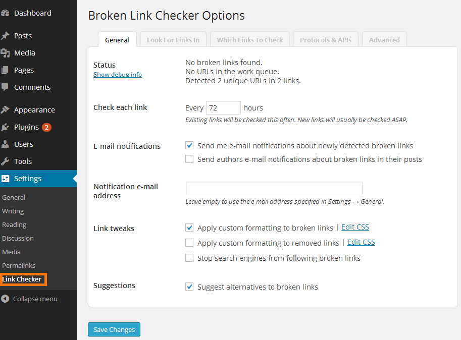 configure_broken_link_checker